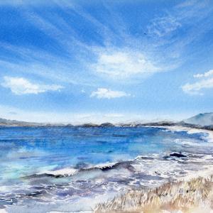 9月水彩色えんぴつ風景画コース「みすゞの見た海」