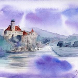 9月水彩色えんぴつ風景画コース「ドナウ川クルーズ」