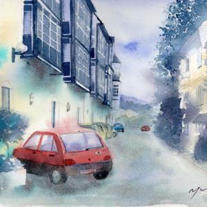 11月 透明水彩「バートイシュルの街角」産経学園