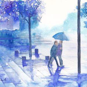 朝日カルオンライン講座「雨を描く」
