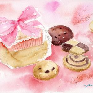 9月水彩色鉛筆教室「BOX Cookie」