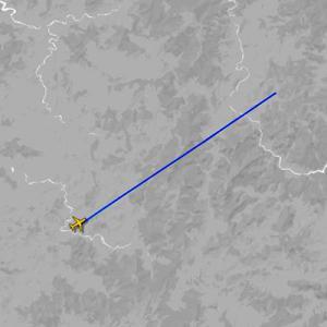 金正恩氏の飛行機が「フライトレーダー24」で捉えられる