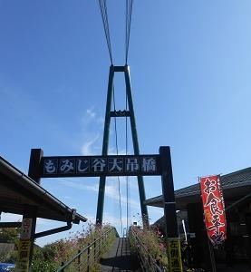 360度のパノラマビュー 那須塩原・もみじ谷大吊橋
