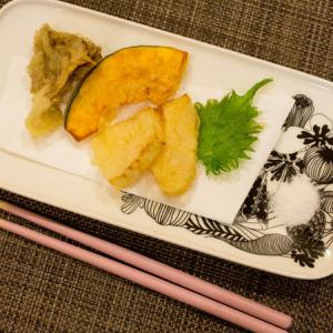 新しい器で天ぷらを。