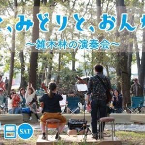 【三芳町】自然にとけ込む雑木林の演奏会『そらと、みどりと、おんがくと。』
