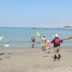 夏休みの思い出はシーカヤック・海遊び