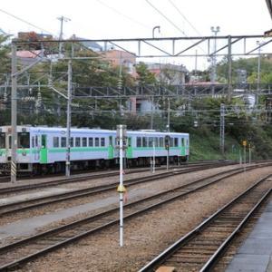小樽駅にて。