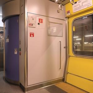 トイレが大きいのがよいですね・733系電車