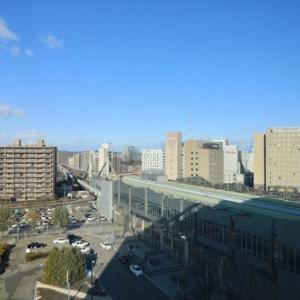 高いところから見る帯広駅