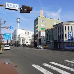 遠くに見る釧路駅