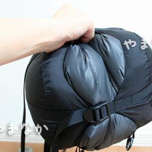 イスカのコンプレッションバッグにシュラフを入れて圧縮