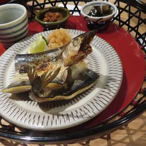 神戸、三宮 オーパ2  「イナズマ お米研究所」-秋刀魚一夜干し定食