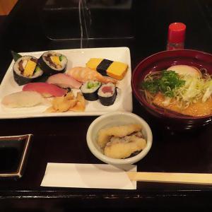 神戸、三宮  「鮨・和食処 智や」-寿司そばセット