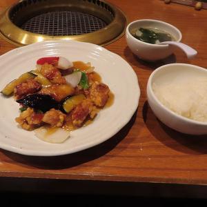 神戸、三宮  「焼肉 伐折羅 三宮」-本格酢豚定食