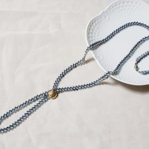 ◇『すくも藍ビーズキット』のネックレス