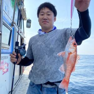6月27日の釣果です。中深海スロージギングアカムツ狙いに行ってきました〜!