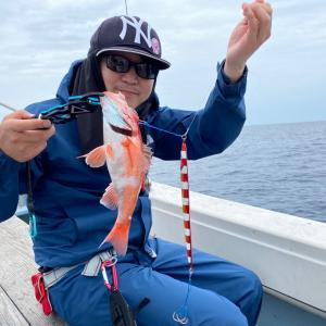 7月3日の釣果です。中深海スロージギングアカムツ狙いに行ってきました。