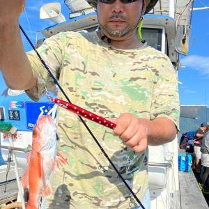 8月13日の釣果です。中深海アカムツ&オニカサゴジギング&エサ釣りに行って来ました〜!