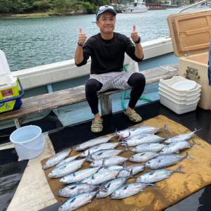 9月17日の釣果です。カツオオキアミ完全流し釣りに行って来ました〜!