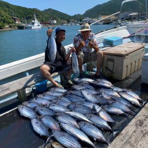 7月26日の釣果です。カツオオキアミ完全流し釣りに行って来ました〜!