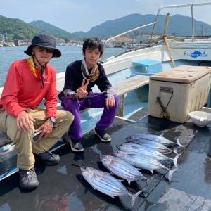 8月2日の釣果です。カツオオキアミ完全流し釣りに行って来ました〜!