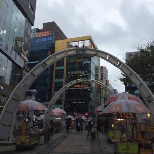 今日の釜山は雨。