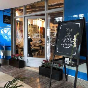Cafe Amarettoで窯焼きピザ