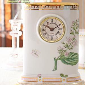 大きな置時計に描かれた♪西洋の植物画シリーズ♪<◆生徒様作品集◆>