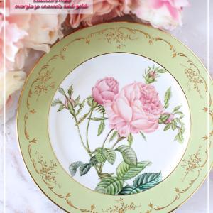 繊細な金彩と盛り♪カップ咲きの『ルドゥーテの薔薇』♪<◆生徒様作品集◆>