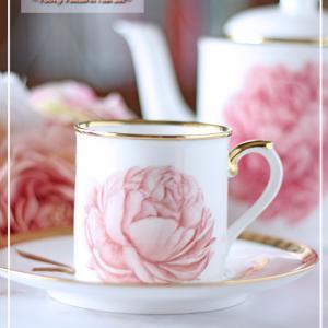 ホワイト&ピンク&ゴールドが美しい♪とっても華やかな芍薬のセット♪<◆生徒様作品集◆>