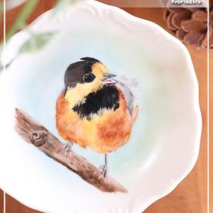 """""""鳥シリーズ""""第五弾♪オールバックが可愛いヤマガラ♪<◆生徒様作品集◆>"""