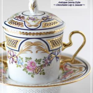 セーブル風チョコレートカップ&ソーサー♪可愛く完成しました♪<◆KAGETORA作品集◆>