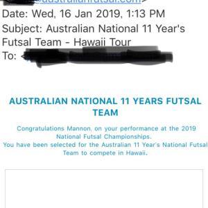 まさかのオーストラリア代表。
