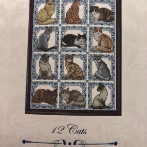 クロスステッチ(12 Cats)
