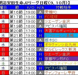 一部未定だった第16~29節までの日程が発表されました。