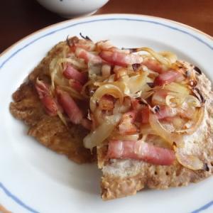 ブランチのタルト・フランベ & 遅いお昼ご飯のサンドイッチ