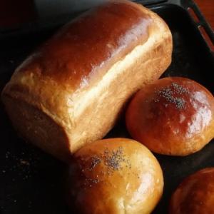 Pさんに習った菓子パン生地の復習*漉し餡パンと白餡パン