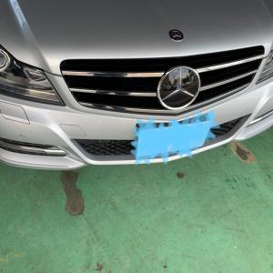 メルセデスベンツCクラス シート補修、塗装