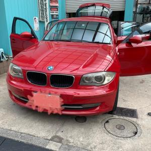 BMW1シリーズ天井張り替え