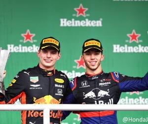 F1ブラジルGP:ホンダ勢1-2フィニッシュに田辺TD「この結果を今日が誕生日の本田宗一郎さんに捧げます」