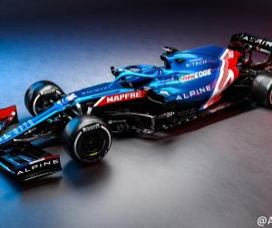 【F1新車発表】アルピーヌが2021年型マシン「A521」を発表、まさにトリコロール