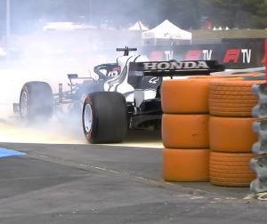 F1フランスGP予選:アルファタウリの角田「僕のミス」「黄色の縁石を使いすぎてスピンしてしまった」