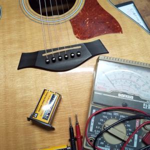 テーラーギター用電池交換!