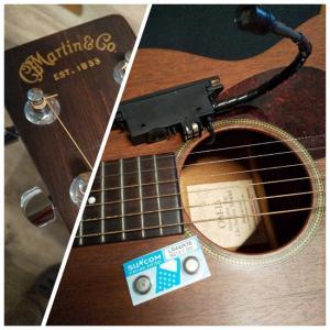ギターピックアップ電池交換