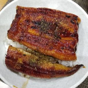 今日の夕食は鰻丼です(*^^*)