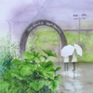 雨の布引ハーブ園へ