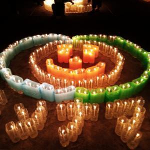 夏の夜の灯りのイベント~摂津市ペットボトルアート2021