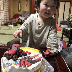 トラクターとコンバインのケーキ