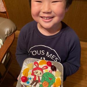 ぜんいちとマイッキーのイラストケーキ