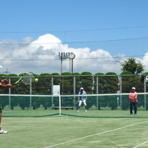 テニスの前にイメージトレーニング